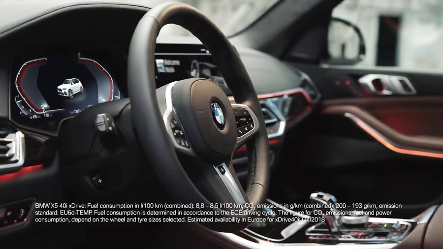 The all-new BMW X5 (G05, 2018). Interior design.